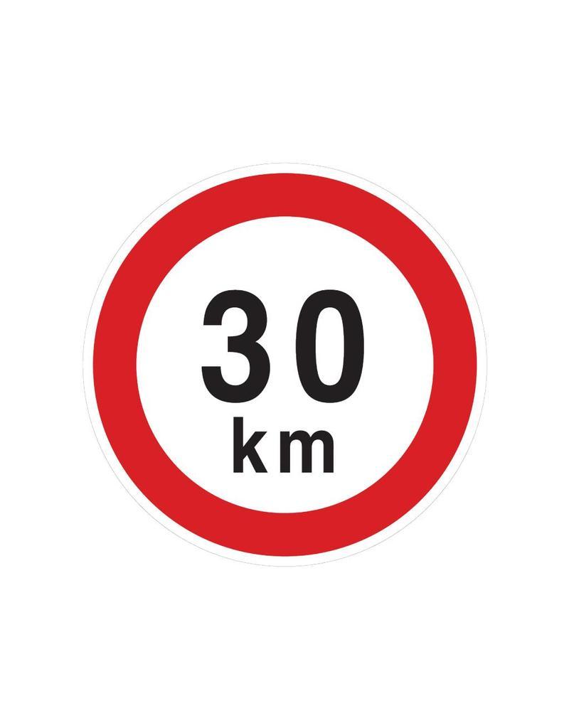 Max. 30 km autocollant