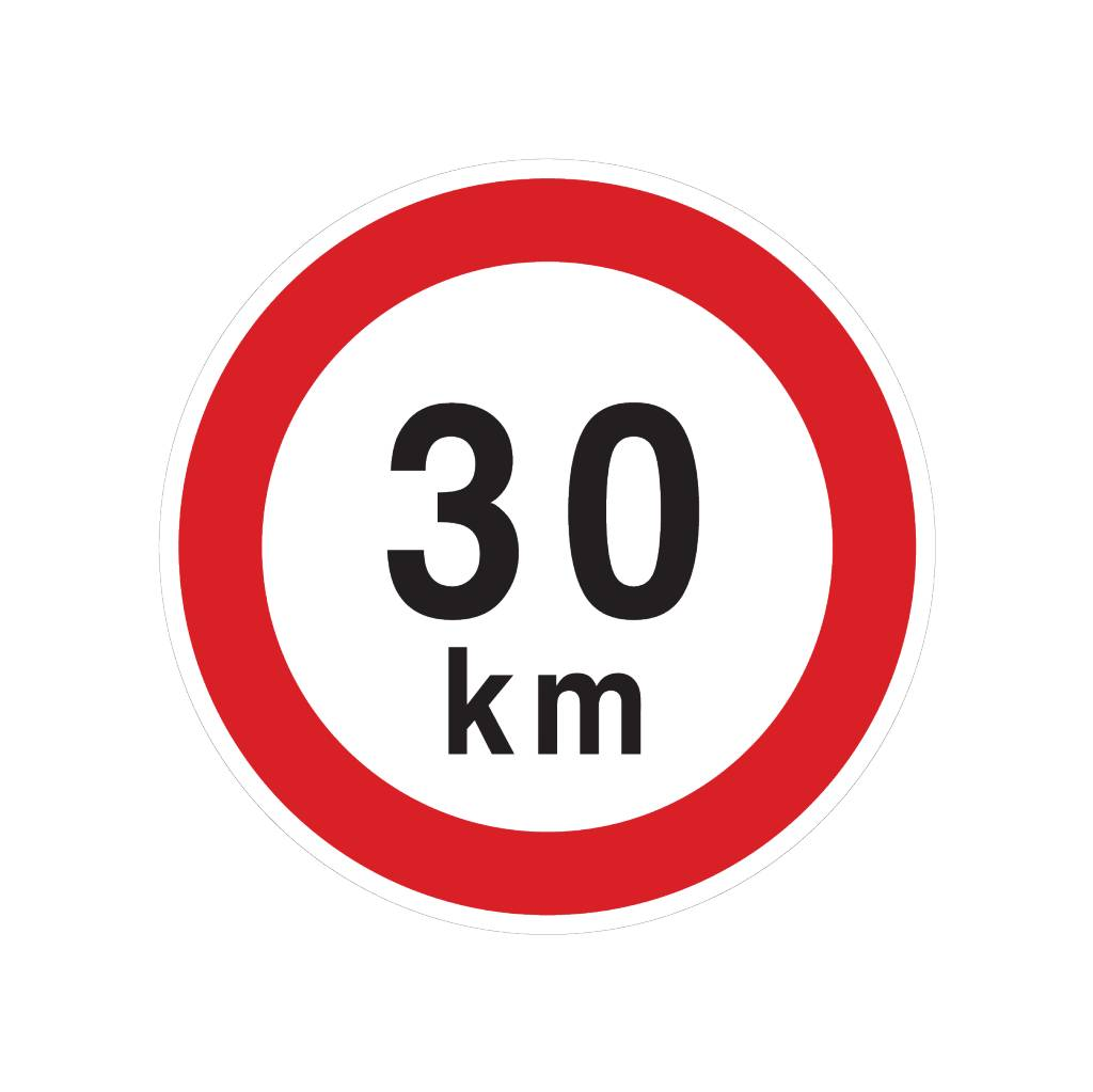 Max. 30 km sticker