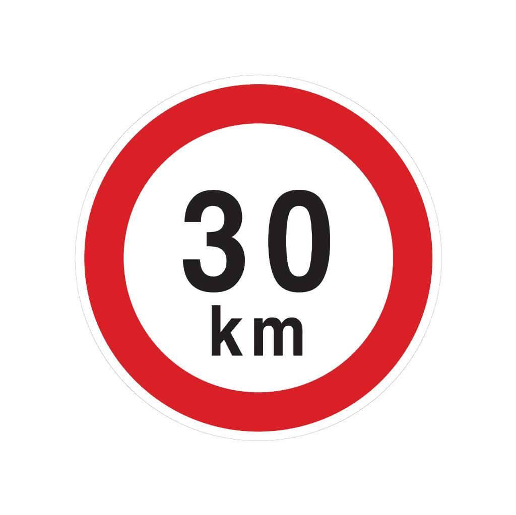 Pegatina Max. 30 km