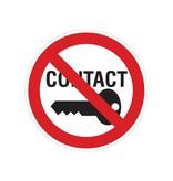 Prohibida para hacer contacto pegatina