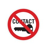 Prohibited to make contact sticker
