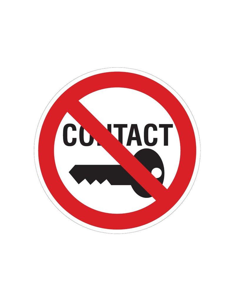 Verboden contact aan te leggen sticker