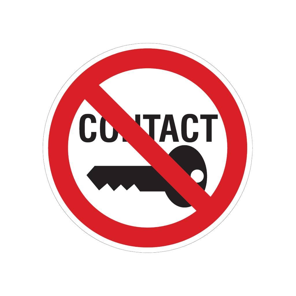 Kontakt legen verboten