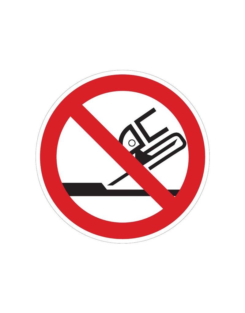 Verboten Kanten zu schärfen Sticker