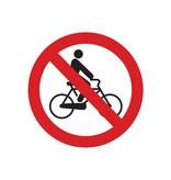 Bicicletas prohibida pegatina