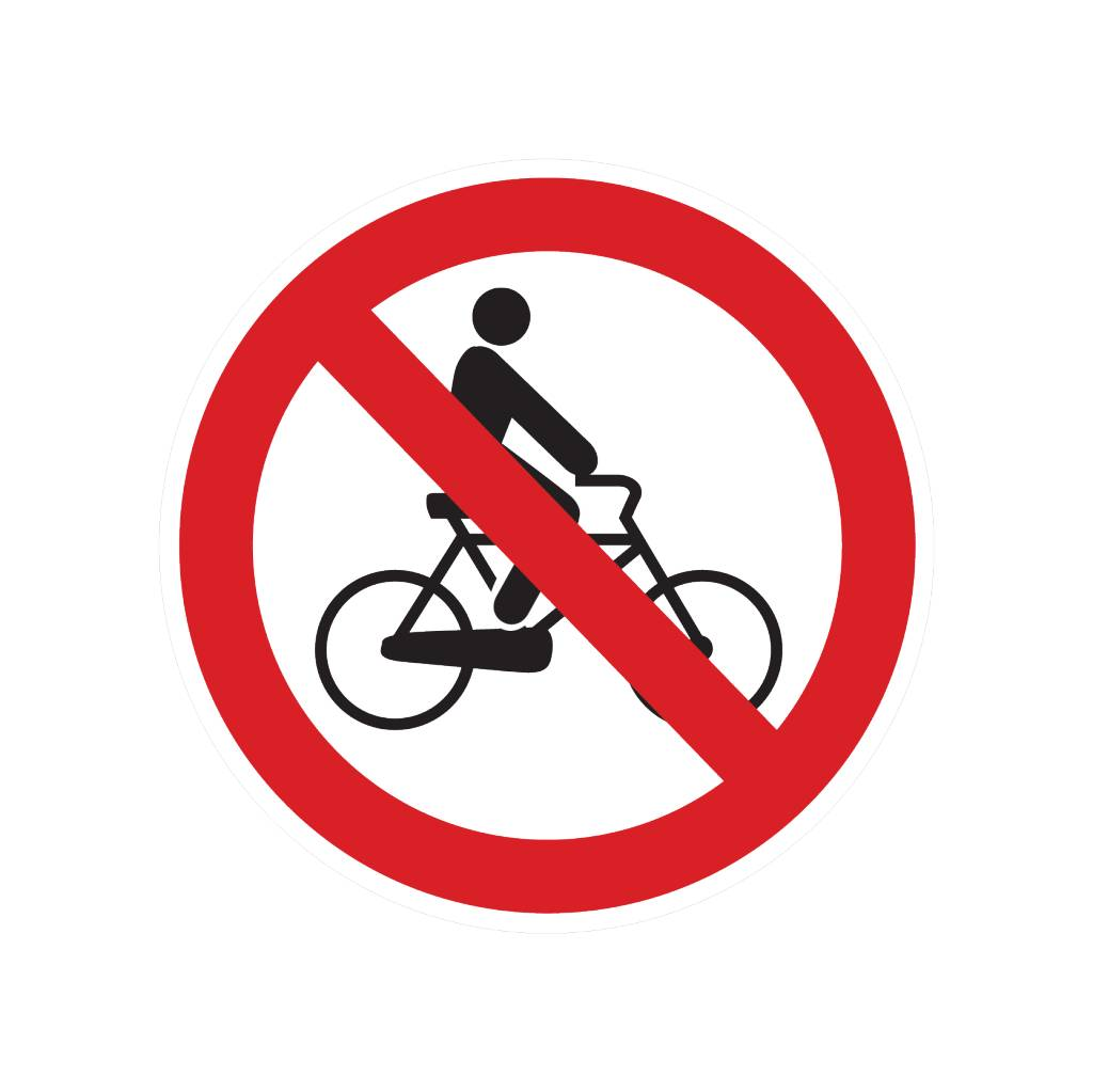 Fahrrad verboten Sticker