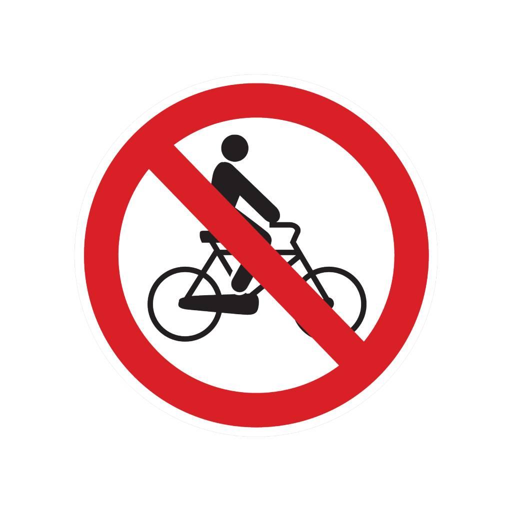 Fietsen verboden sticker