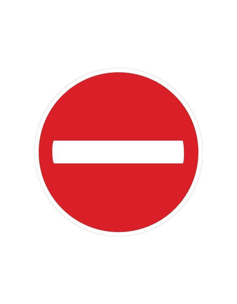 Einfahrt verboten Sticker