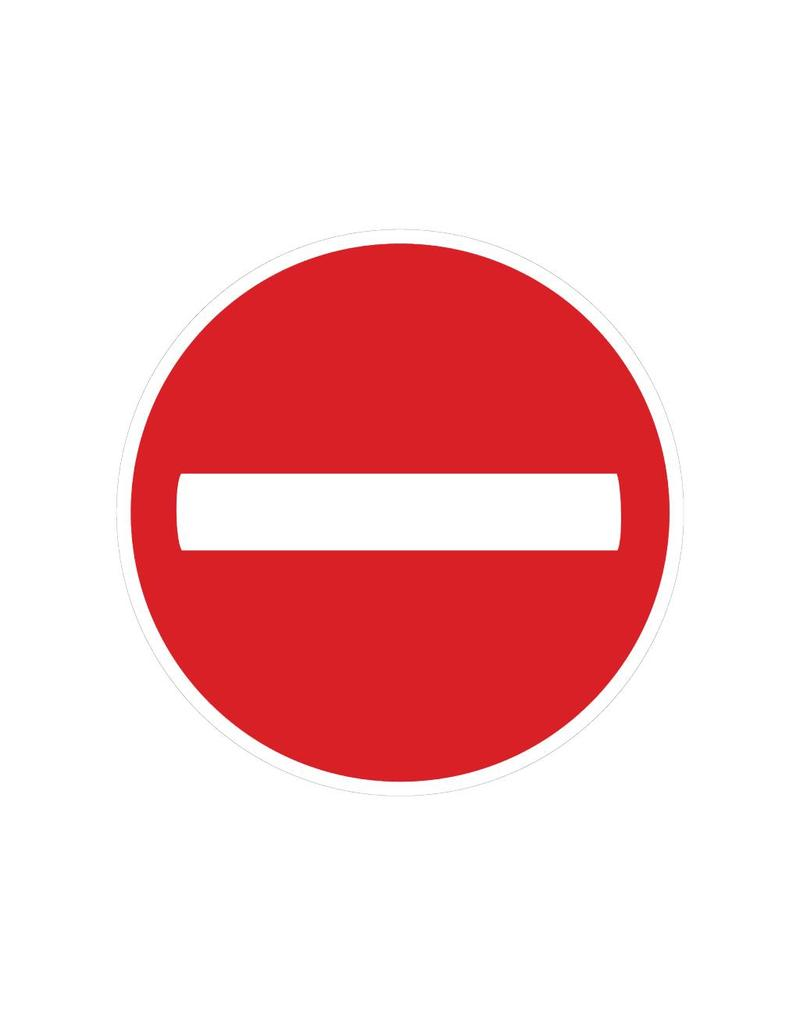 Forbidden to enter driving sticker