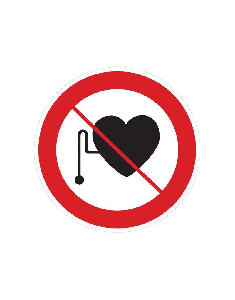 Verboden voor personen met pacemaker sticker