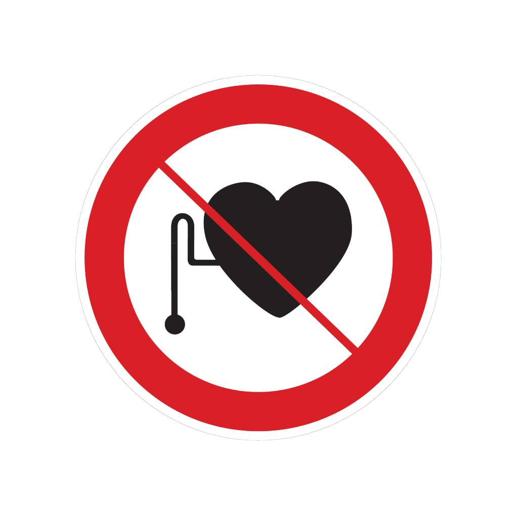 Forbidden for people with pacemaker sticker