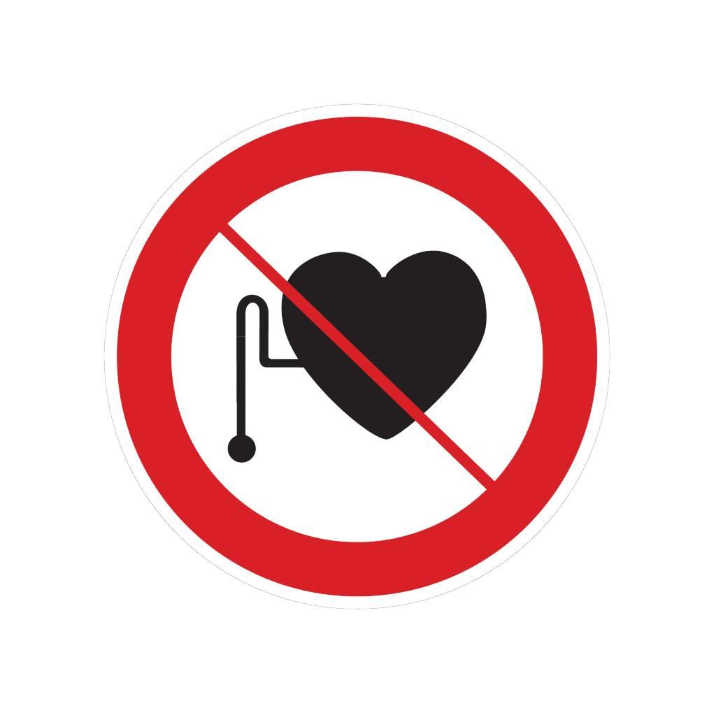 Prohibido para las personas con marcapasos pegatina