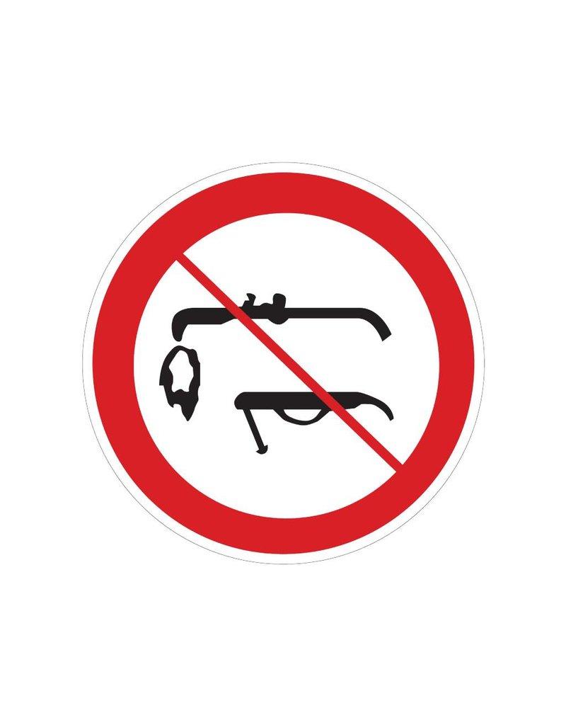 Welding prohibited sticker