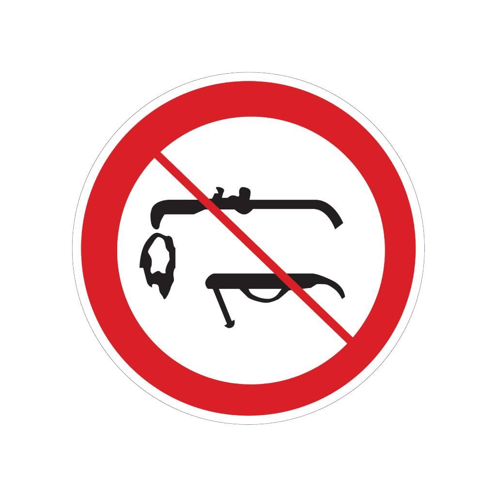 Lassen verboden sticker