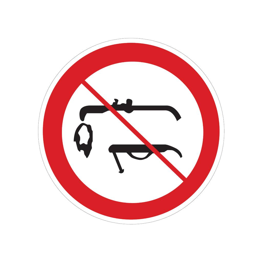 Soudage interdite autocollant