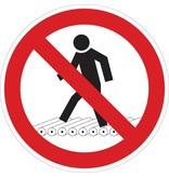 Forbidden for pedestrians sticker