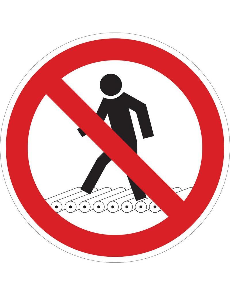 Prohibido a los peatones pegatina