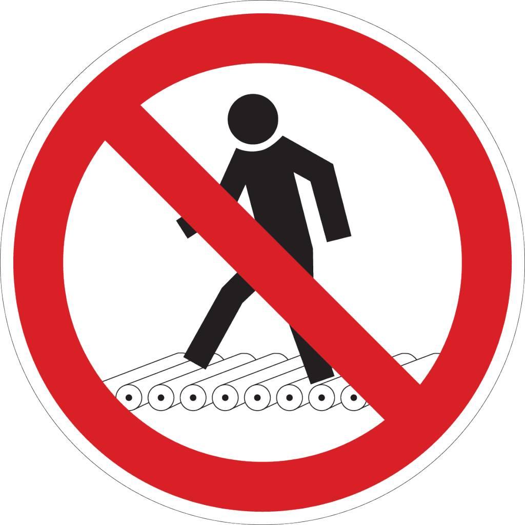 Verboden voor voetgangers sticker