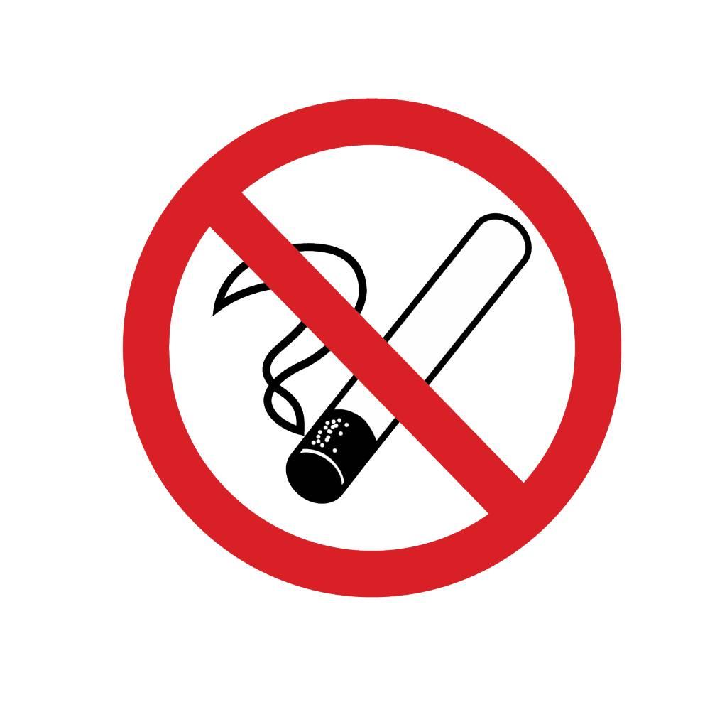 Autocollant interdiction de fumer
