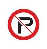 Interdit de se garer autocollant