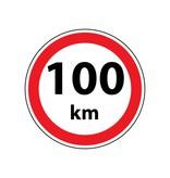 Max. 100 km autocollant