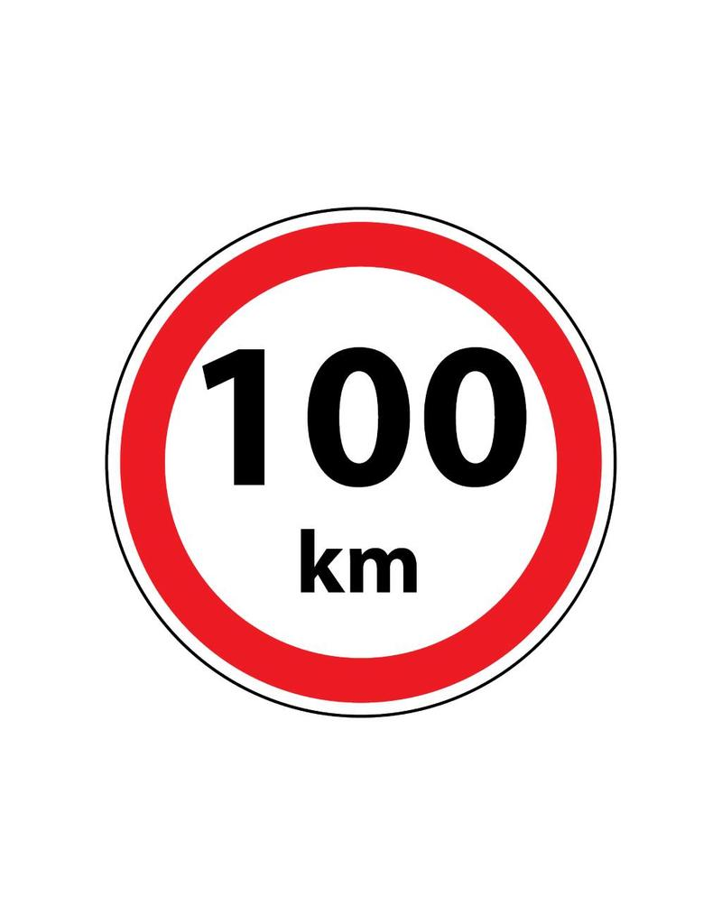 Max. 100 km sticker