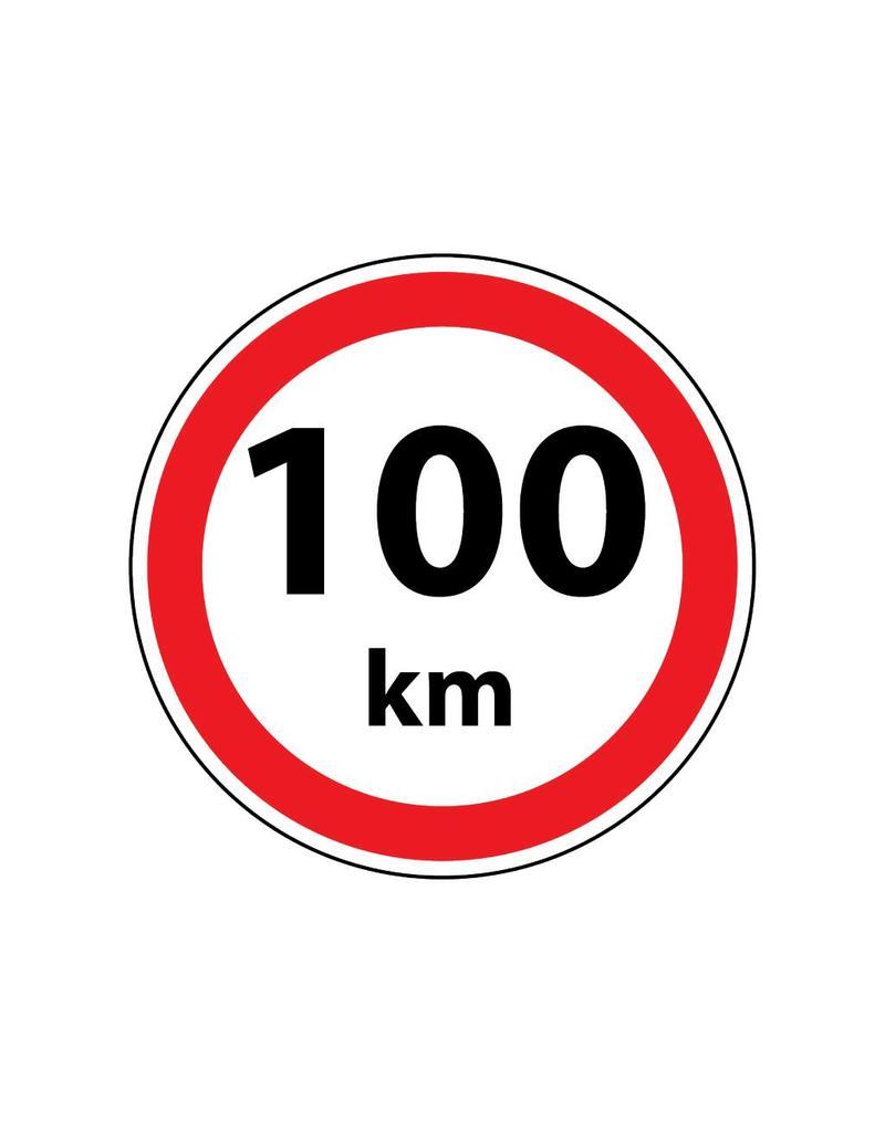 Pegatina Max. 100 km