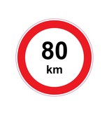 Max. 80 km Sticker