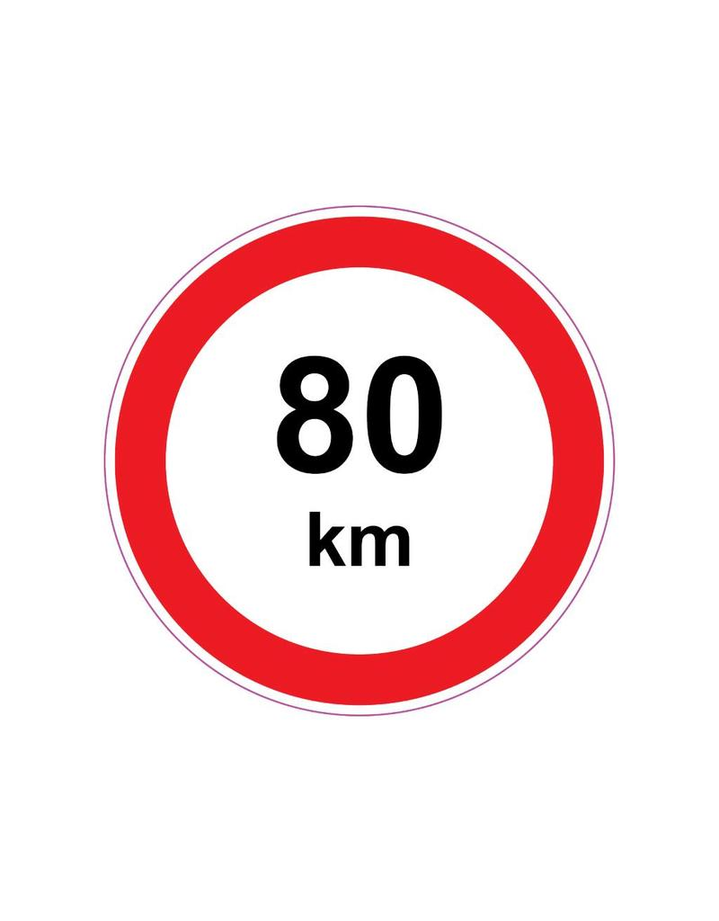 Max. 80 km sticker