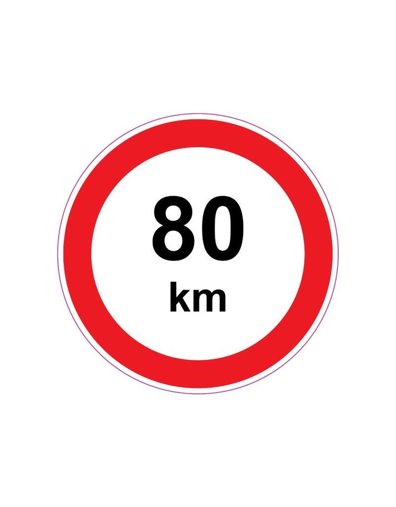 Pegatina Max. 80 km