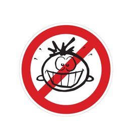 Prohibido para niños pegatina