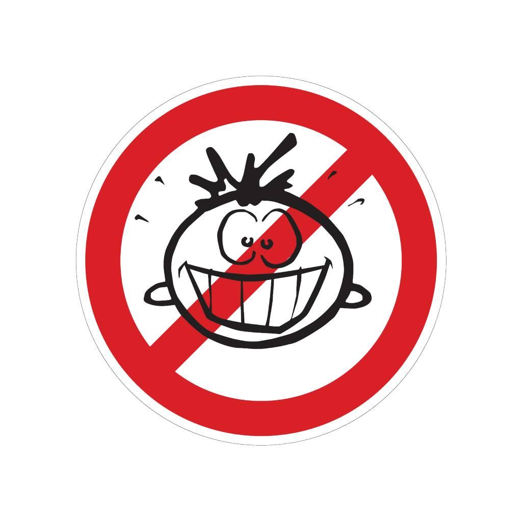 Forbidden for children sticker