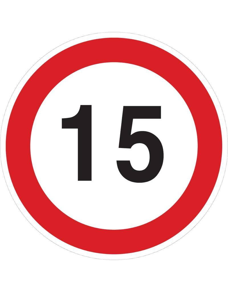 Max. 15 km Sticker