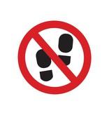Verbotssticker Betreten der Fläche verboten