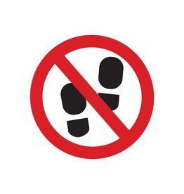Betreden van ruimte verboden sticker