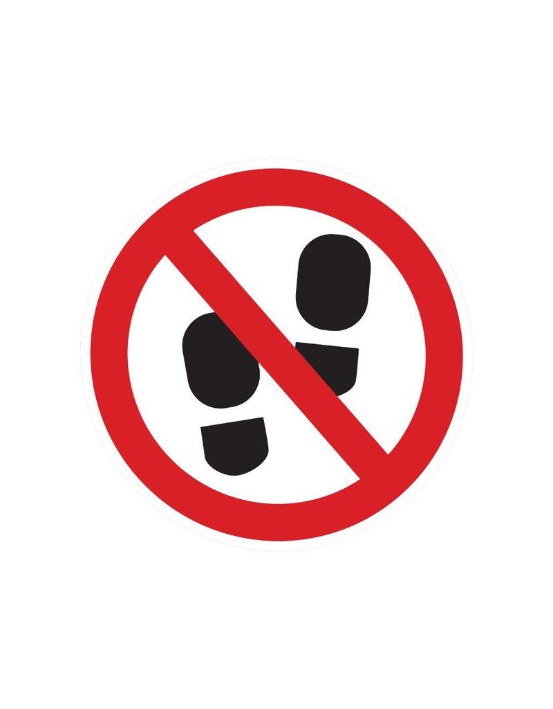 Entrez zone interdit autocollant