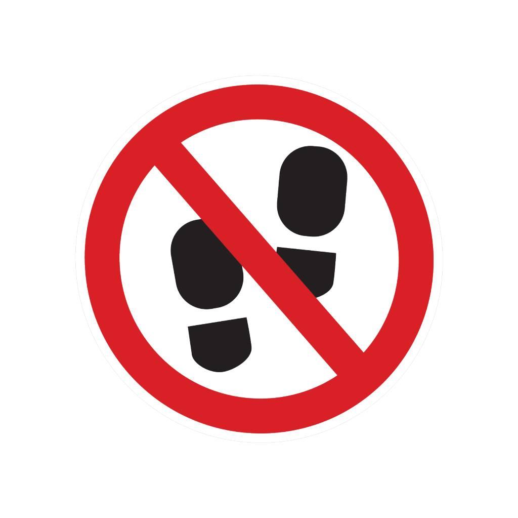 Forbidden to enter this zone sticker