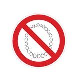 Verbotssticker Bedienung mit Kette verboten