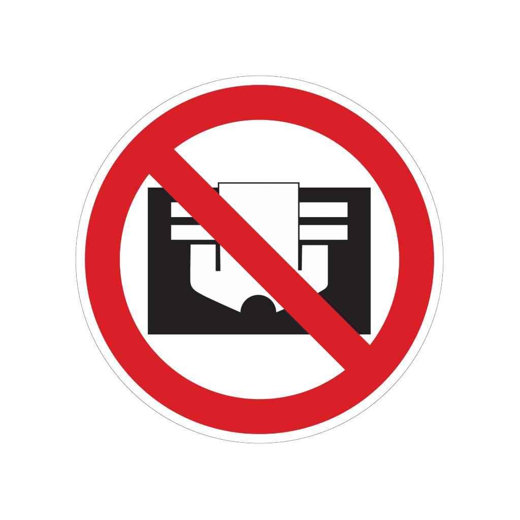 Niet afdekken sticker
