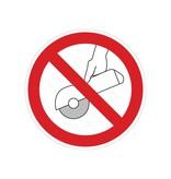 Forbidden to sharpen with hand sticker
