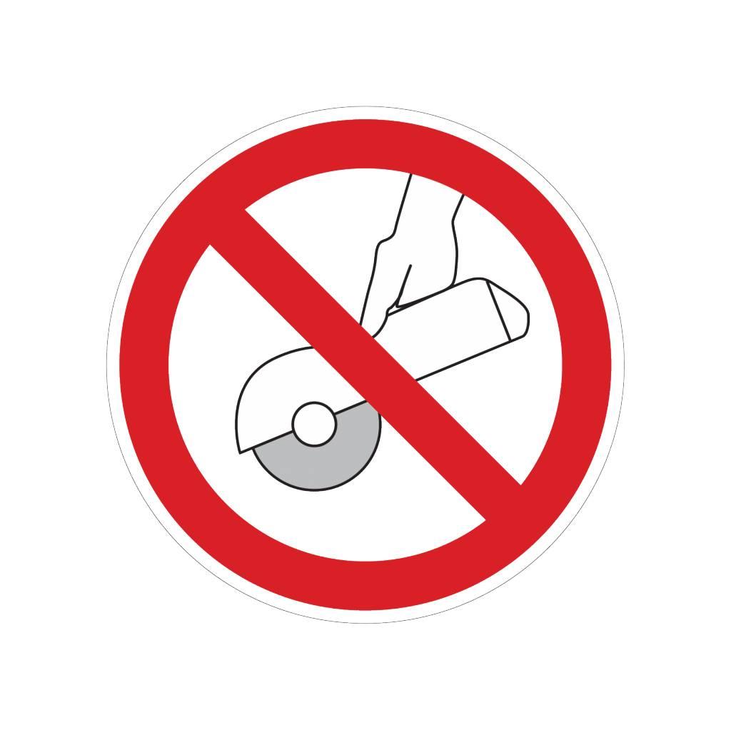 No moler a mano pegatina