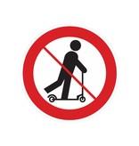 Scooters están prohibidos pegatina