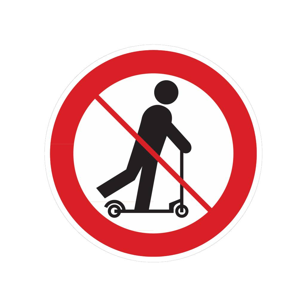 Verboden step te gebruiken sticker