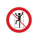 Interdiction de grimper sur les étagères autocollant