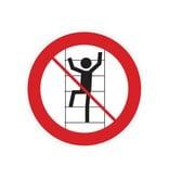 Verboten, in die Regale zu klettern Sticker