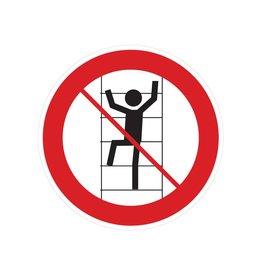 No subir los estantes pegatina