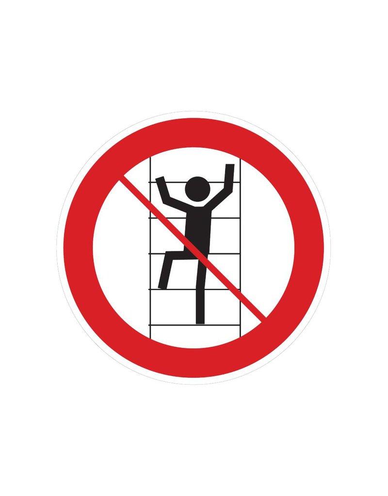 Verboden op de rekken te klimmen sticker