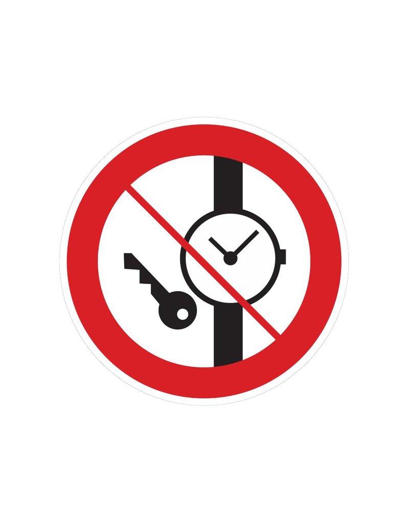 Little metal goods are forbidden sticker