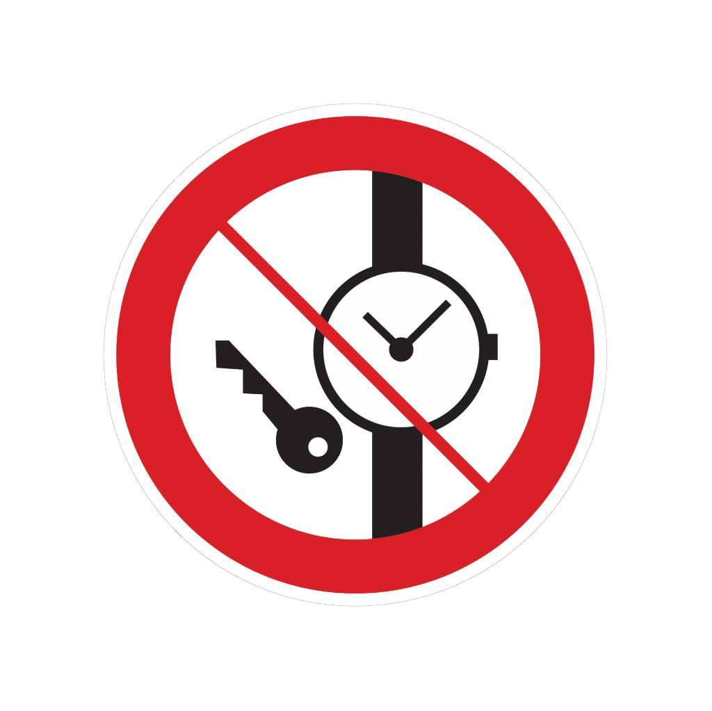 Kleine Metallgegenstände verboten Sticker