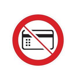 Magnetische kaarten verboden sticker